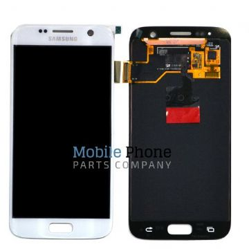 Genuine Samsung Galaxy S7 G930F LCD + Digitiser White - Part No: GH97-18523D